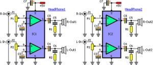 Laptop AudioOut Splitter Circuit Diagram Circuit Diagram