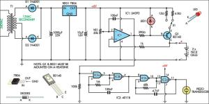 Nicad Charger Uses Voltage CutOut Circuit Diagram