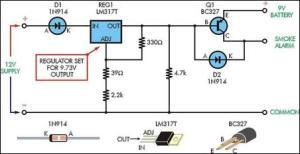 Smoke Alarm Battery Life Extender Circuit Diagram