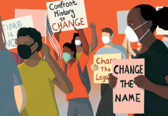Illustration of people protesting.