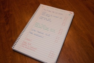 Homeschool organization in a simple spiral notebook - www.learningmama.com