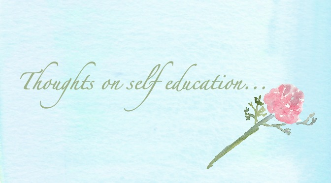 Thoughts On Self Education