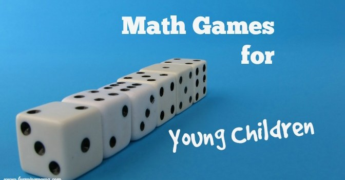 Learning math through games is a great way to encourage mathematical learning in young children!