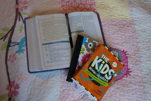 Book Review {The Kid's Book of Devotions: A 365 Day Adventure in God's Word by Mark Littleton}