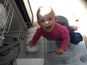 Homeschool with a toddler?! We can't even manage to empty the dishwasher!