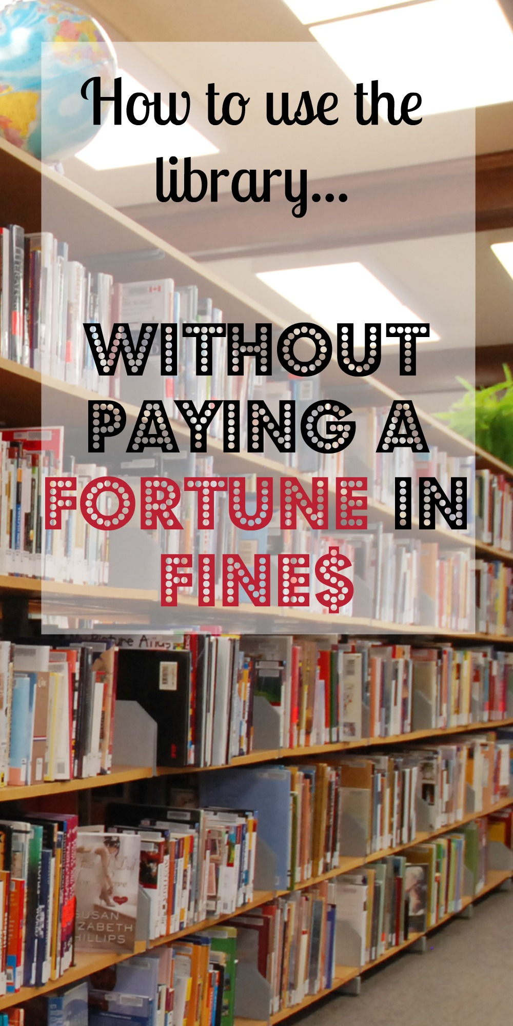 How to use the library without paying a fortune in fines. A couple of simple, easy, and effective ways for homeschoolers to stay on top of their library books and stay organized!