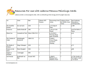 Free, printable lesson plans using Usborne Famous Paintings art cards