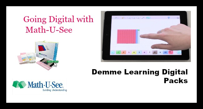Going Digital with Math-U-See - A Demme Digital Packs Review