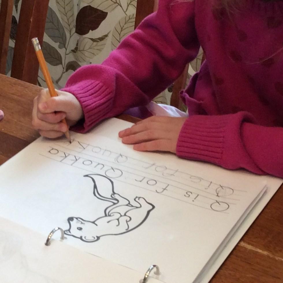 Homeschool Copywork Animal Alphabet