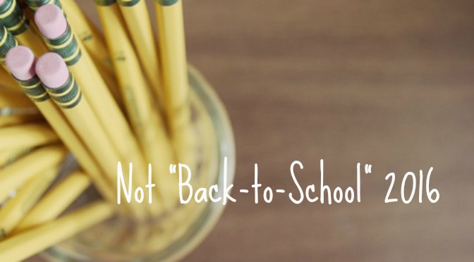 "A Not ""Back-to-School"" Update"