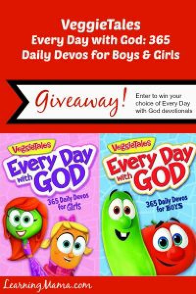 Every Day with God: 365 Daily Devos for Boys and Girls -- book review AND GIVEAWAY! Enter to win your choice of girls or boys devotional