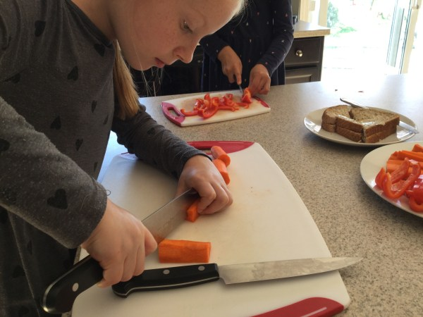 Knife skills - an essential component of our homeschool cooking curriculum!
