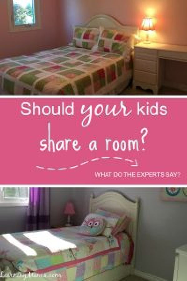 "The ""experts"" say that siblings should share bedrooms builds strong sibling bonds and helps kids get along, but should YOUR kids share a room?"