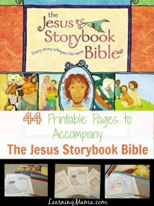 graphic relating to Printable Devotions called Jesus Storybook Bible Devotional Webpages Printable - Understanding Mama