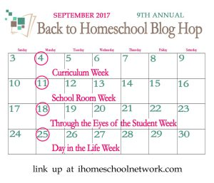 Back to Homeschool Blog Hop- Day in the Life of a Homeschooler