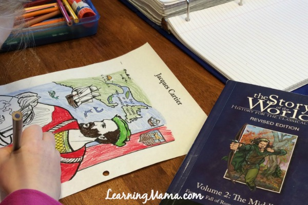 Using Story of the World in Your Homeschool - Colouring pages