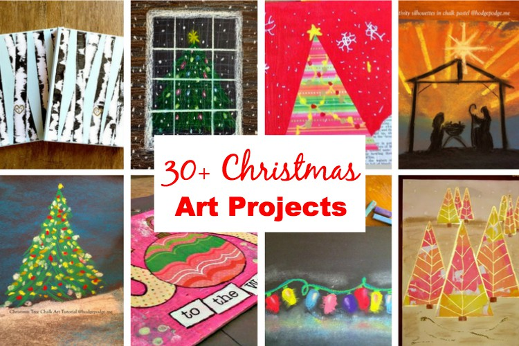 30 + Christmas Art Projects to Enjoy with Your Children