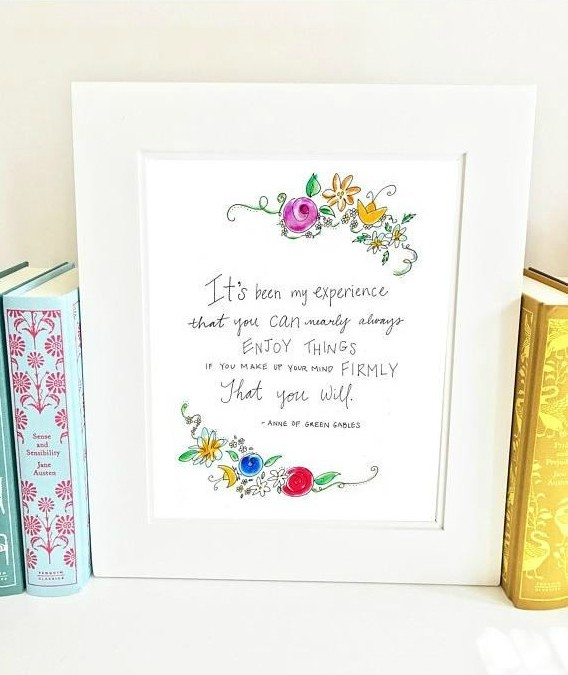 Literary quotes make wonderful gifts for the book lover on your list!