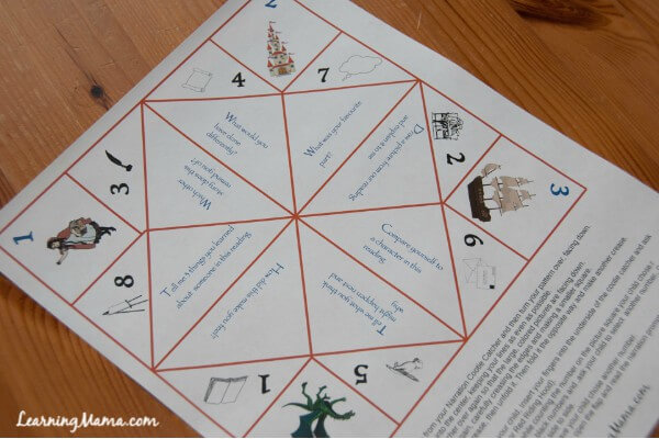 Make narration fun with this printable narration prompt cootie catcher