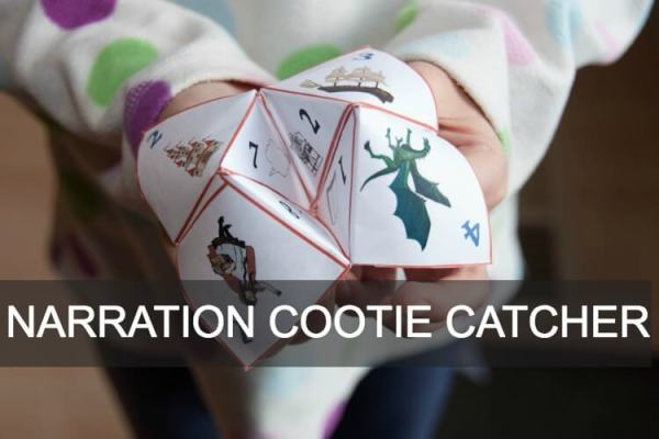 Have you got a reluctant narrator? Use this narration prompt cootie catcher!