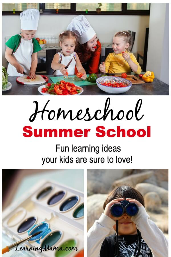 Your kids will love these fun ideas for Homeschool Summer School!