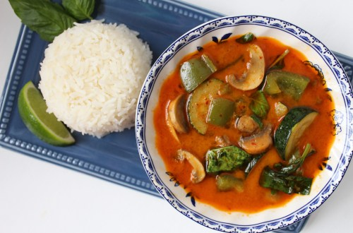 This bold and flavorful curry recipe is full of vegetables and comes together in about 30 minutes, making it a great choice for a weeknight dinner.
