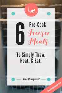 Freezer Meal Recipes, Freezer Meals, Pre-Cook Freezer Meals
