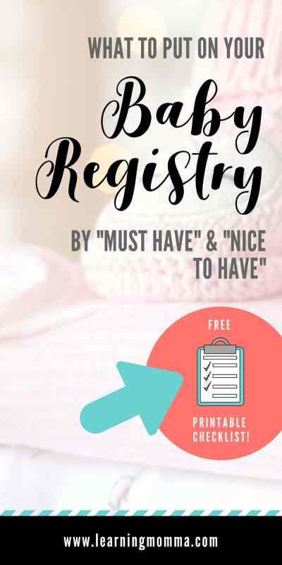 Baby Registry Checklist, Baby Registry List, Baby Registry Items, What to put on baby registry
