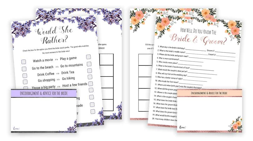 picture about Would She Rather Bridal Shower Game Free Printable named Wager Who Mommy Or Daddy Child Shower Bingo Obtain Print
