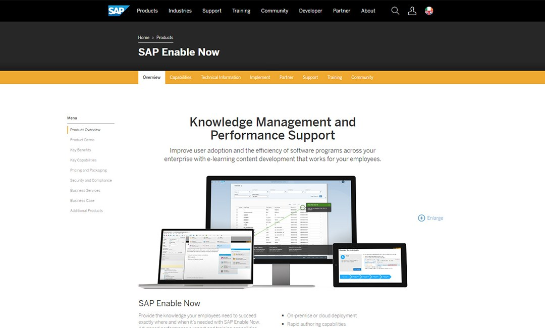 Enable Now Interactive eLearning Authoring Tool