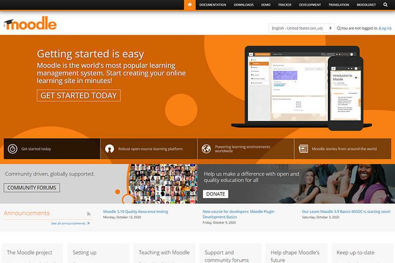 Moodle open source learning platform