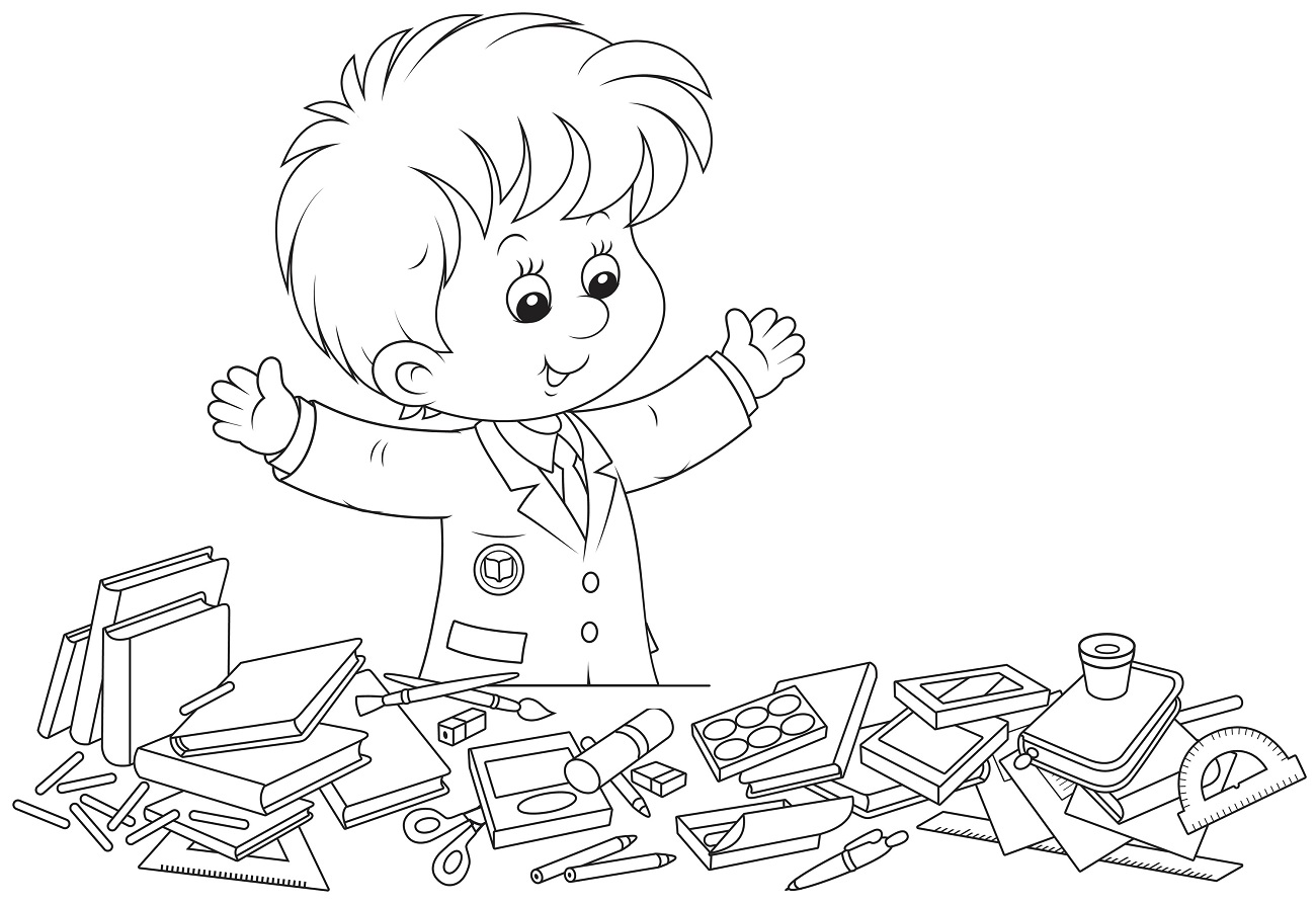 Elementary School Coloring Pages Activity Learning Printable