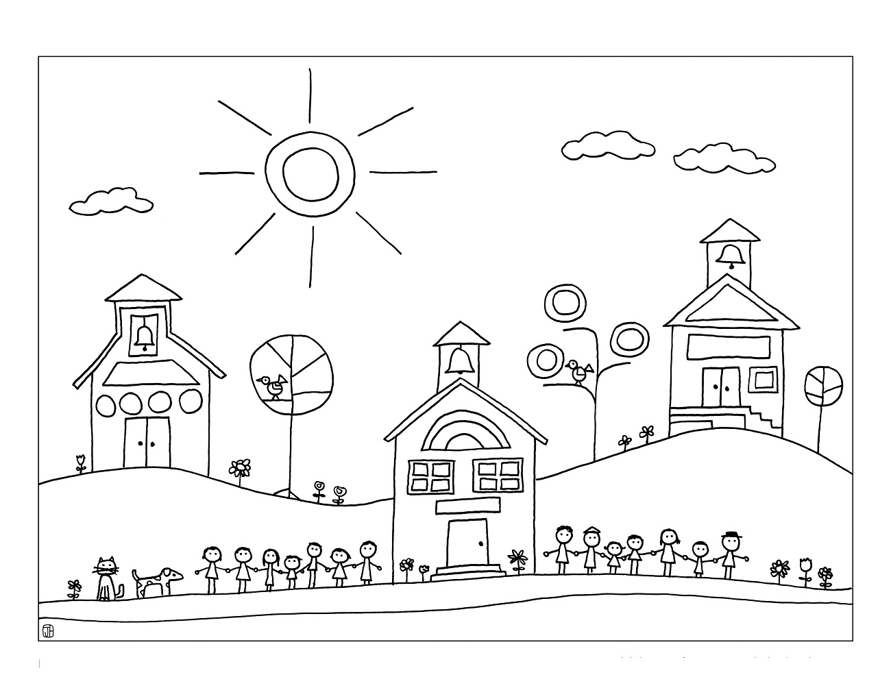 Elementary Coloring Printables Coloring Pages