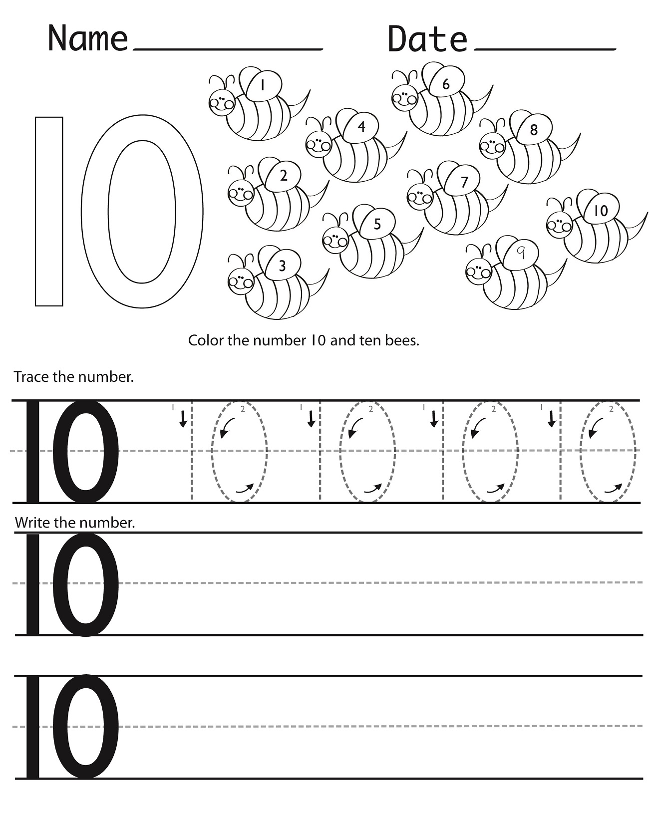 Bridge Ten Worksheets