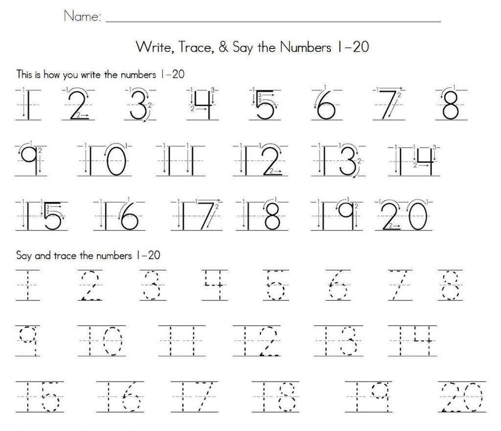Number 4 Worksheet Free Printable