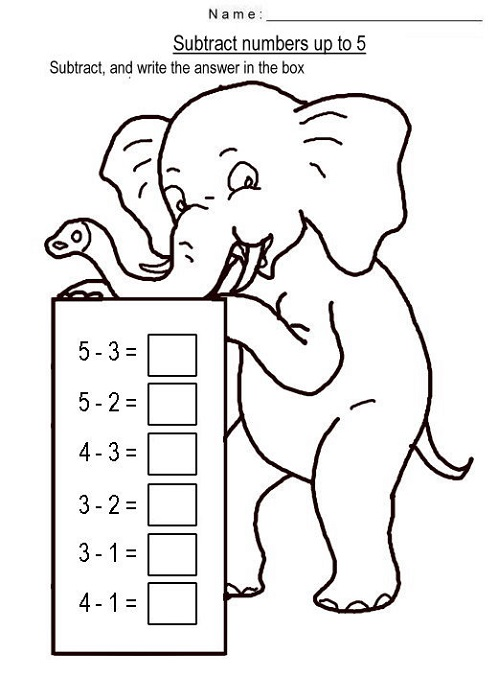 Subtraction And Addition Worksheets