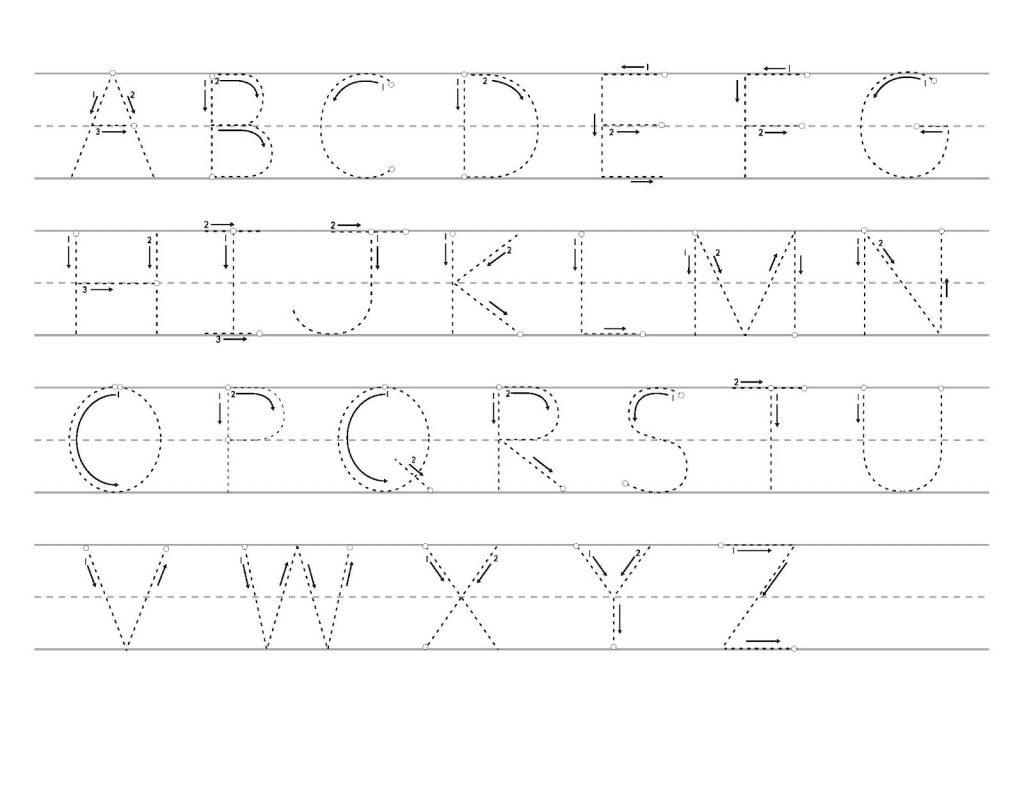 Capital Letter Trace Pages