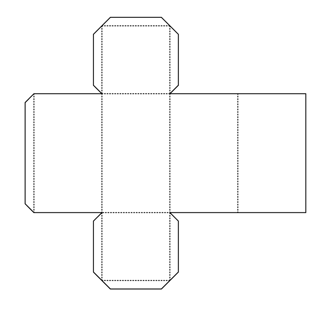 Rectangular Prism Net Template Learning Printable