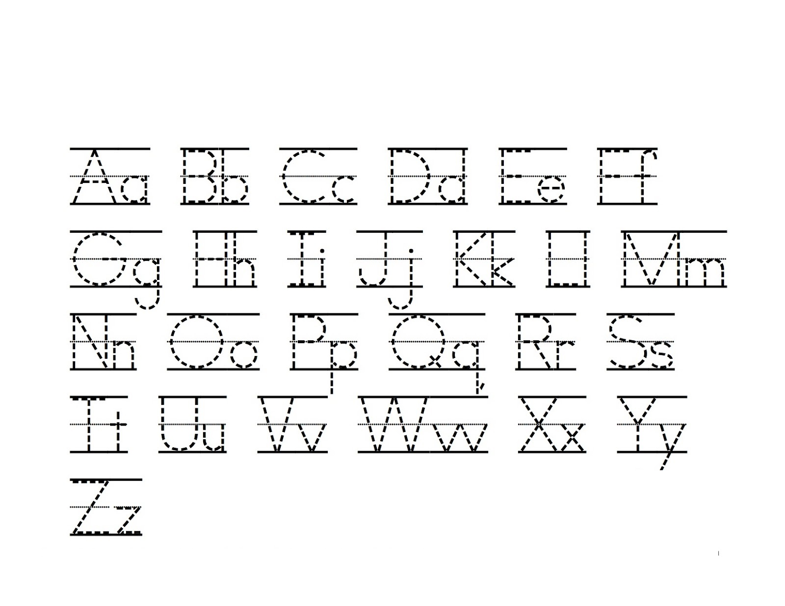 Alphabet Writing Practice Printable