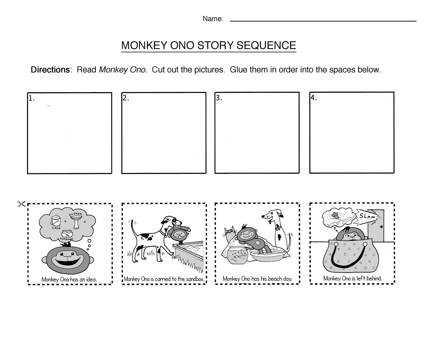 Identifying Characters Worksheet Kindergarten