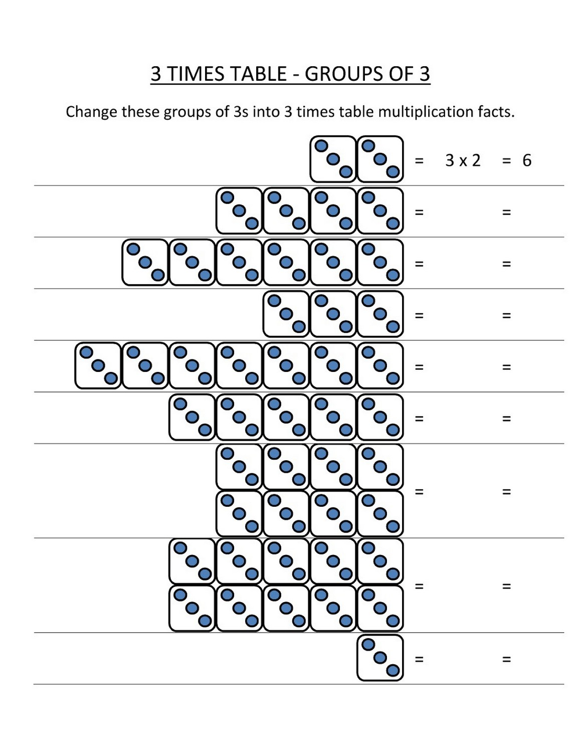 Times Table Exercise Basic For Kids Learning Printable