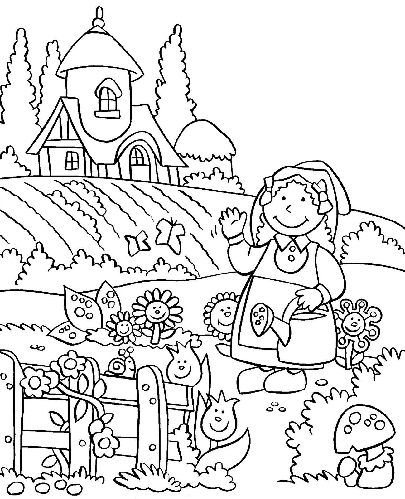 Coloring Pictures For Kids Worksheet