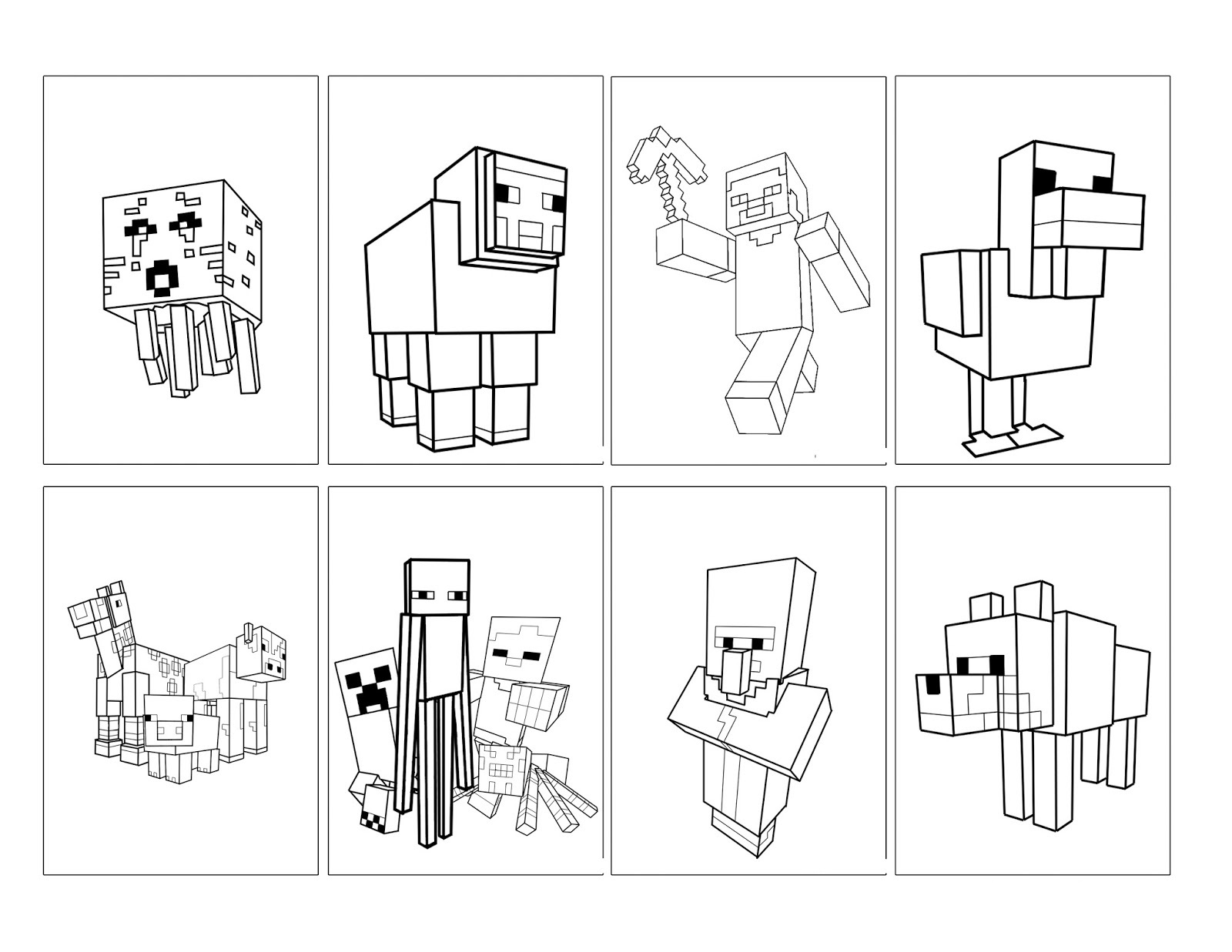 Minecraft Colors To Print