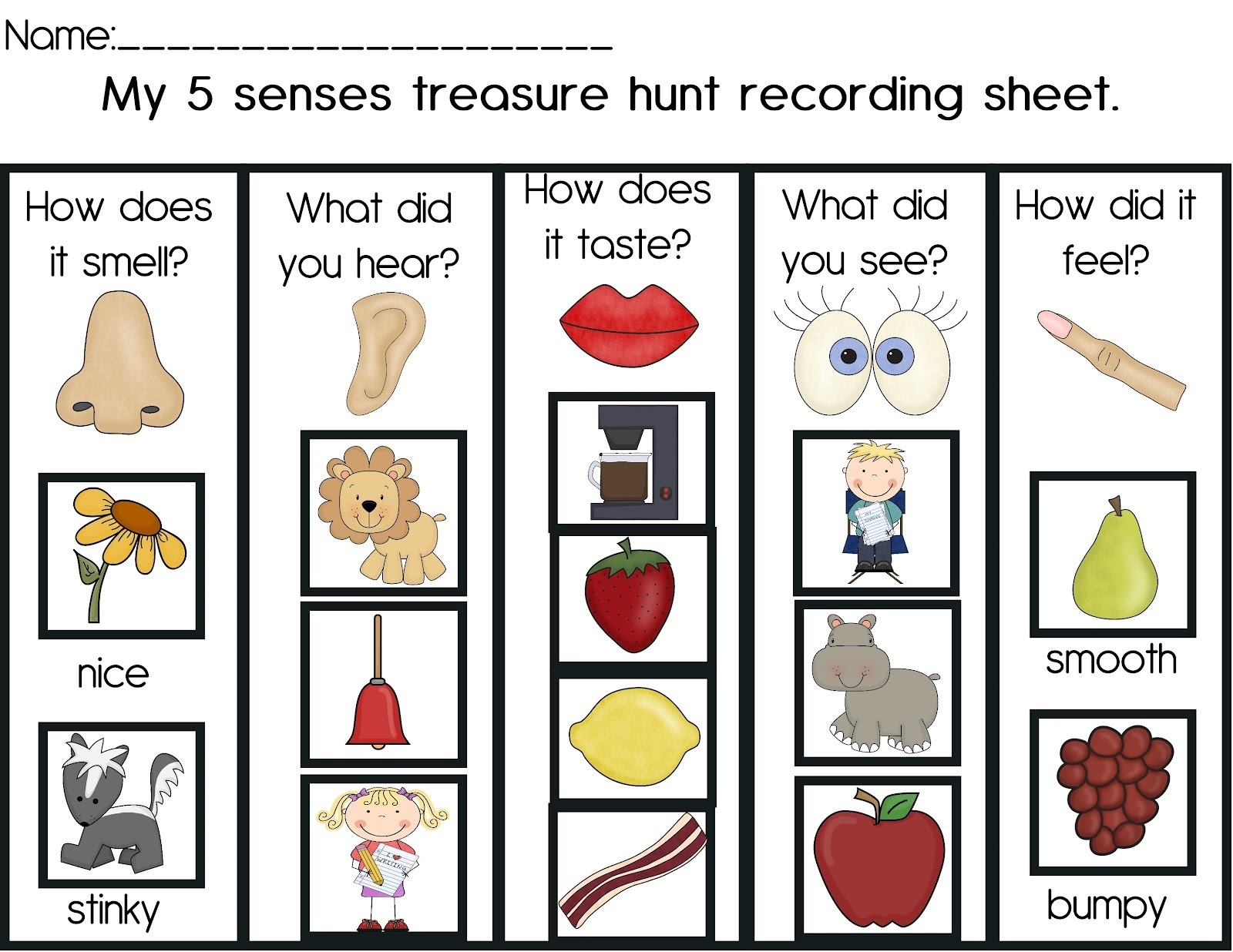 Hearing Worksheet Printable