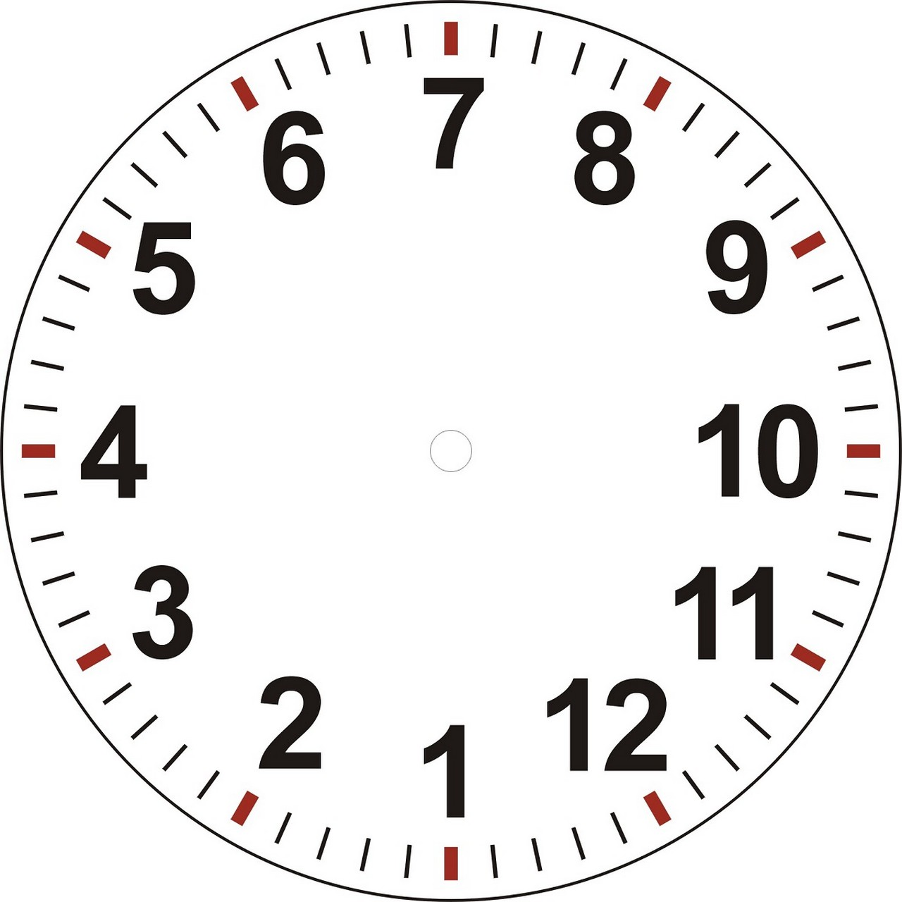 Clock Face With Minutes Printable