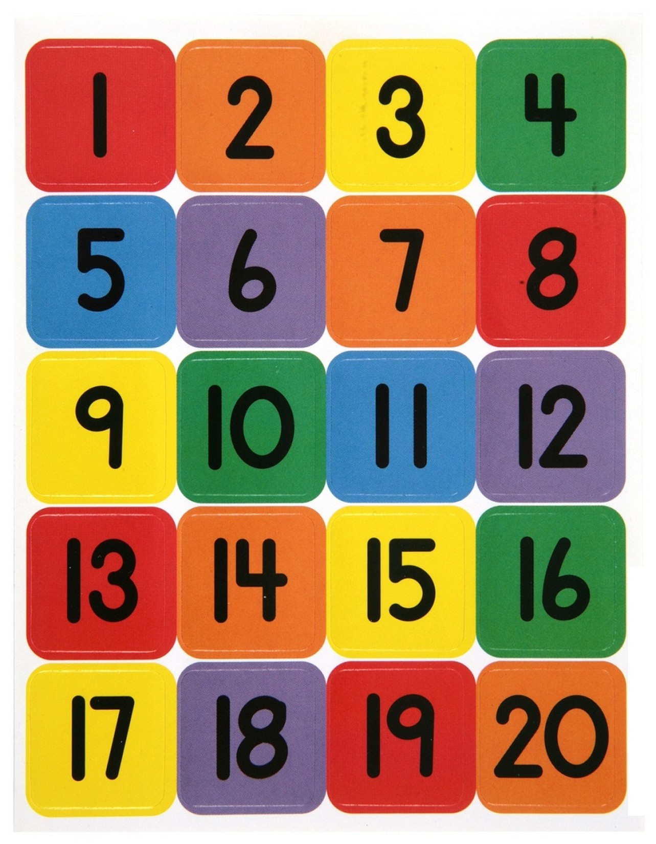 Numbers 1 20 Printable Fun Learning Printable