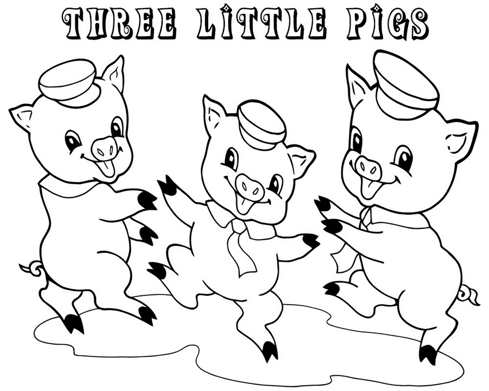 Three Little Pigs Coloring Pages For Preschool Fun Learning Printable