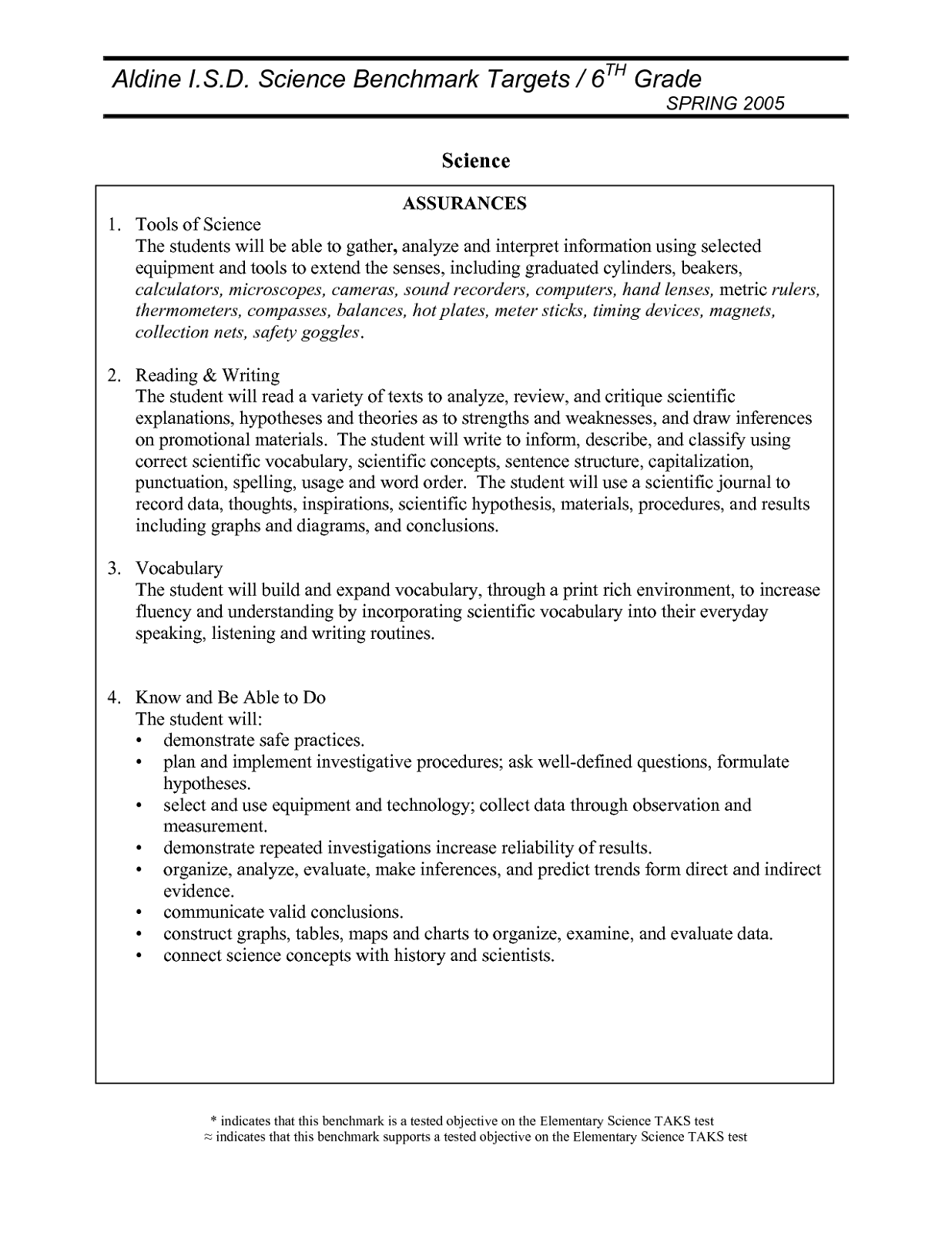 Science 6th Grade Worksheets