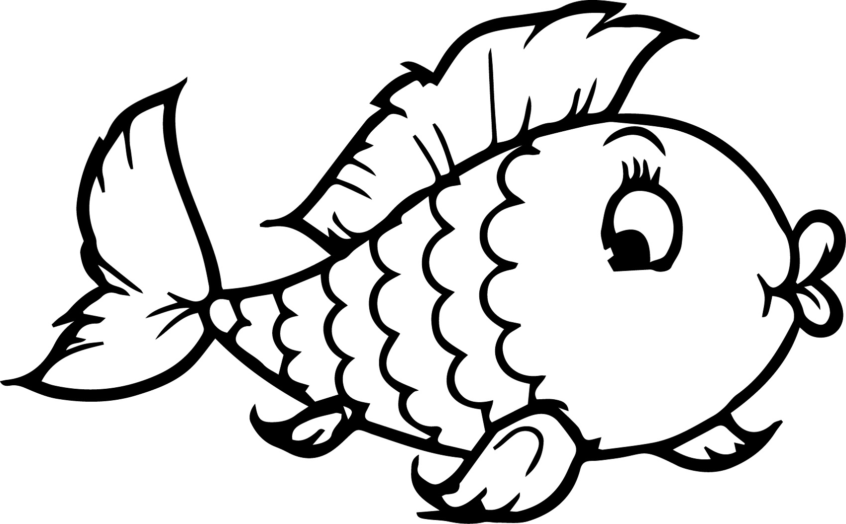 Coloring Sheets For Kindergarten Fish Learning Printable