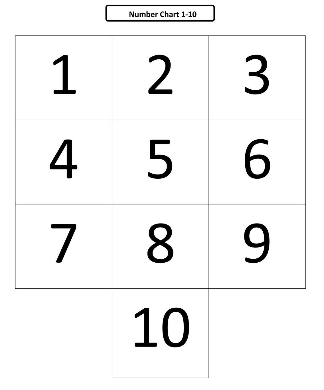Free Numbers 1 10 To Print